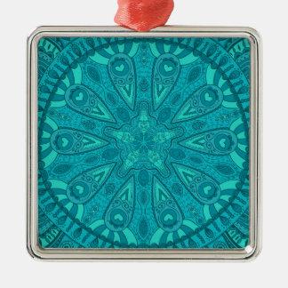 Aquamariner Sternexplosion-Entwurf Silbernes Ornament