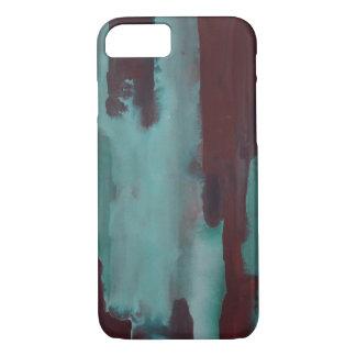 Aquamariner und kastanienbrauner Watercolor iPhone 8/7 Hülle