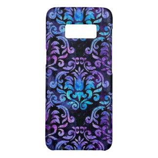 Aquamariner und lila Damast auf Kasten Case-Mate Samsung Galaxy S8 Hülle