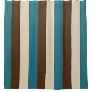Aquamarines Brown und beige vertikale Streifen Duschvorhang