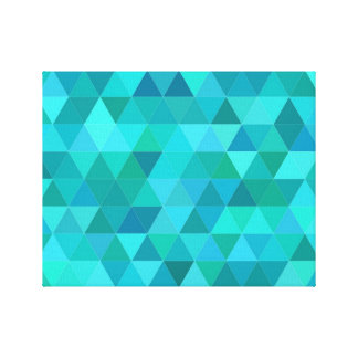 Aquamarines Dreieckmuster Leinwanddruck