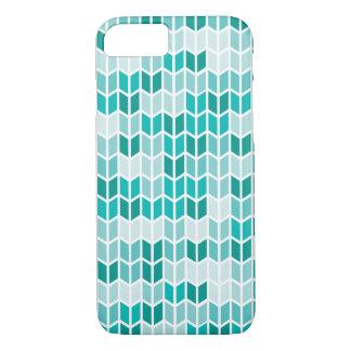 Aquamarines geometrisches Muster iPhone 8/7 Hülle