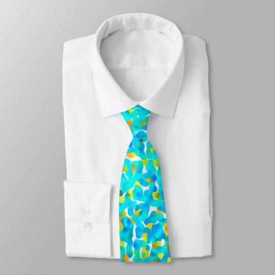 Aquamarines grün-blaues gelbes abstraktes Muster Krawatten