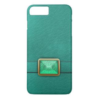Aquamarines Imitat Leder und iPhone 7 Plus Hülle