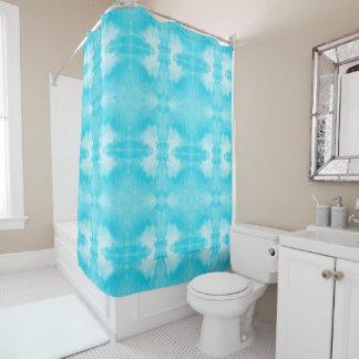 aquamarines Muster des Watercolor Duschvorhang