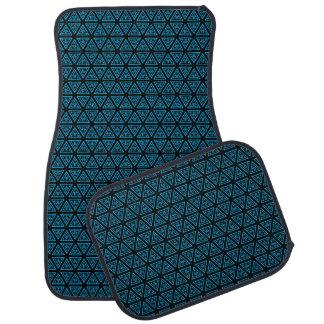 Aquamarines und schwarzes Muster Autofußmatte