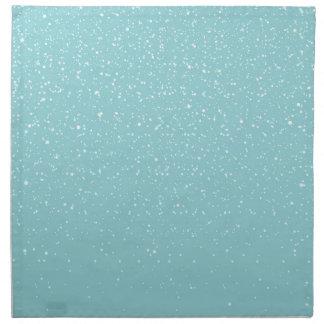 Aquamarines warmes Winter-Märchenland Snowy Serviette