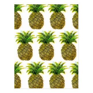 Aquarell-Ananas Postkarte