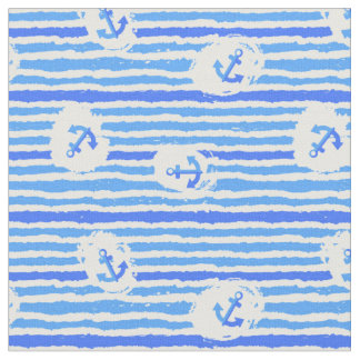 Aquarell-Anker-Muster | addieren Ihre Initiale Stoff