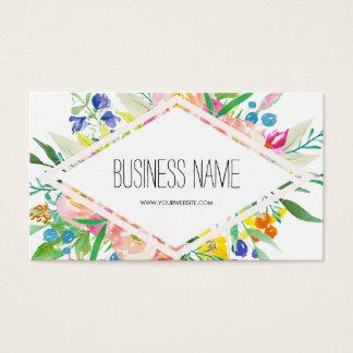 Aquarell-Blumendiamant Visitenkarten