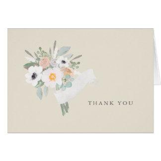 Aquarell-Blumenstrauß danken Ihnen Karte
