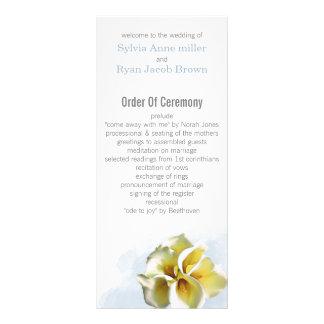 Aquarell Callalilien Blumenhochzeitsprogramme Werbekarte