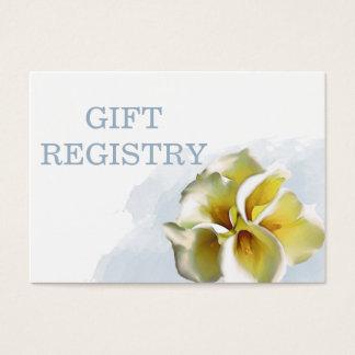 Aquarell Callalilien-Hochzeits-Geschenkladen Visitenkarte