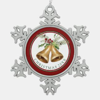 Aquarell des Weihnachten| - Schneeflocken Zinn-Ornament