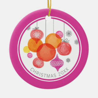 Aquarell des Weihnachten| - Verzierungen u. Keramik Ornament