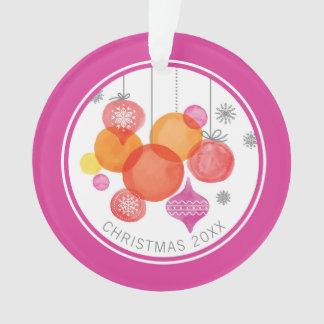 Aquarell des Weihnachten| - Verzierungen u. Ornament