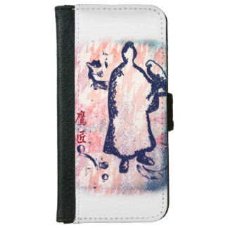 Aquarell Falkner-Lord-Takagari Samurai Pink Hue iPhone 6 Geldbeutel Hülle