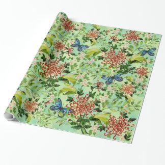 Aquarell-Gänseblümchen und Schmetterlinge Geschenkpapier