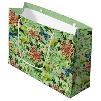 Aquarell-Gänseblümchen und Schmetterlinge Große Geschenktüte