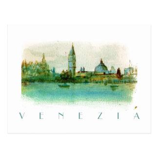 Aquarell gemalte Skizze-Postkarte von Venedig Postkarten