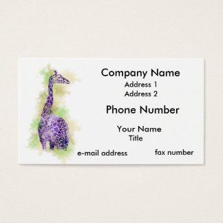 Aquarell-Giraffe 1 Visitenkarte