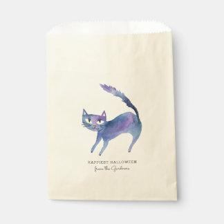 Aquarell-Halloween-Katze Geschenktütchen