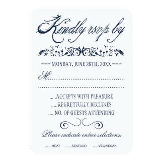 Aquarell-Hochzeits-Wartekarten 8,9 X 12,7 Cm Einladungskarte