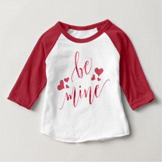 Aquarell ist Bergwerk-Valentinstag Baby T-shirt