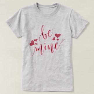 Aquarell ist Bergwerk-Valentinstag T-Shirt