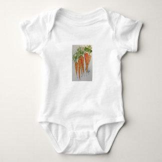 Aquarell-Karotten Onsie Baby Strampler