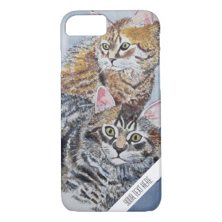 Aquarell-Katzen-kundenspezifischer Telefon-Kasten iPhone 7 Hülle
