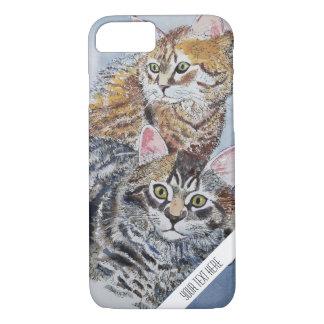 Aquarell-Katzen-kundenspezifischer Telefon-Kasten iPhone 8/7 Hülle
