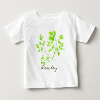 Aquarell-Kraut-Petersilien-Illustration Baby T-shirt