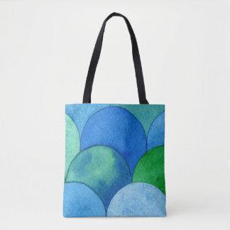 Aquarell-Kunst-Tasche - blaues Tasche