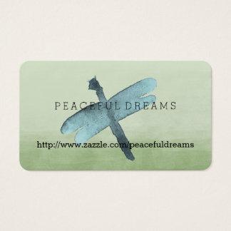 Aquarell-Libelle Visitenkarten