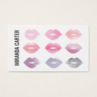 Aquarell-LippenVisitenkarte Visitenkarten