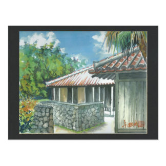 Aquarell-Malerei-Postkarte Okinawa Ishigaki Postkarte