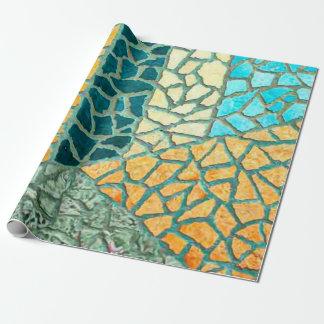 Aquarell-Malerei-Stein-Mosaik + Ihre Ideen Geschenkpapier