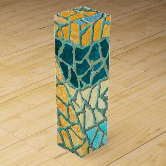 Aquarell-Malerei-Stein-Mosaik + Ihre Ideen Wein-Geschenkverpackung