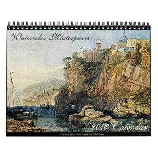 Aquarell-Meisterwerk-Kunst-Kalender 2016 Abreißkalender