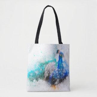 Aquarell-Mischungs-Medien Peacock1 Tasche