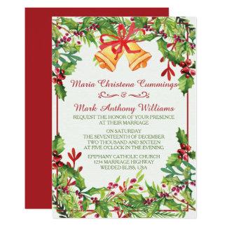 Aquarell-Mistelzweig-Feiertags-Hochzeits-Einladung 12,7 X 17,8 Cm Einladungskarte