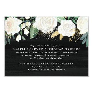 Aquarell mit Blumen + 12,7 X 17,8 Cm Einladungskarte