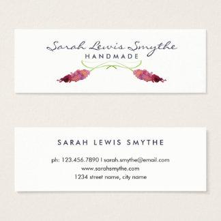 Aquarell mit Blumen Mini Visitenkarte
