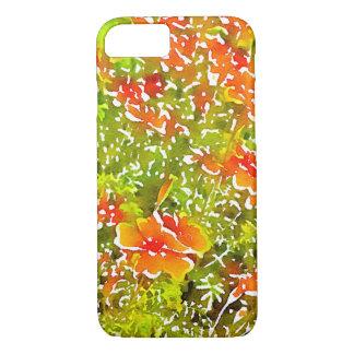 Aquarell-Mohnblumen iPhone 7 Hülle
