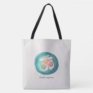 Aquarell-OM-Symbol-Yoga-Vermittlungslehrer Tasche