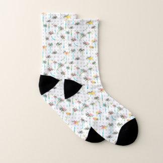 Aquarell-Palmen Socken