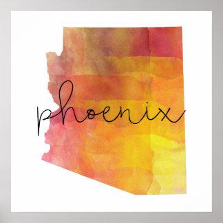 Aquarell Phoenix Arizona Poster