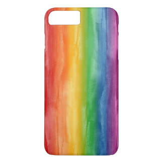 Aquarell-Regenbogen-Streifen iPhone 7 Plus Hülle
