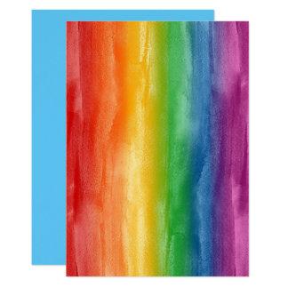 Aquarell-Regenbogen-Streifen Karte